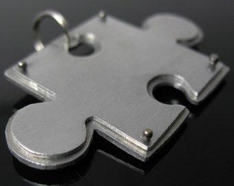 Puzzle piece pet tag