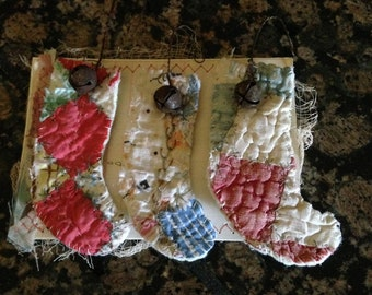 Vintage stocking ornament's