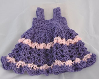 Purple and Pink Newborn Dress
