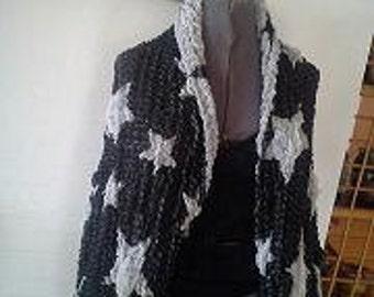 Kimono Sttyle  Jacket with kimono sleeves  Pashmina/Silk Fabric