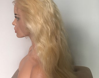 Blonde Lace Front Wig, 100% Brazilian Human Hair - Must be customised to fit.