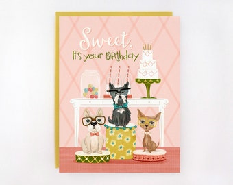 Sweet, It's Your Birthday - Dog Greeting Card