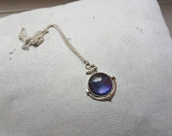 silver necklace shaped Galaxy ink