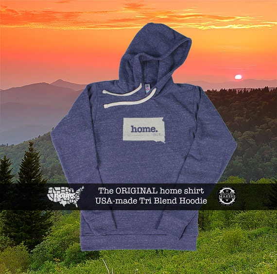 Tri Blend Pull Over Hoodie North Dakota Home Sweatshirt ohnjnMWt7