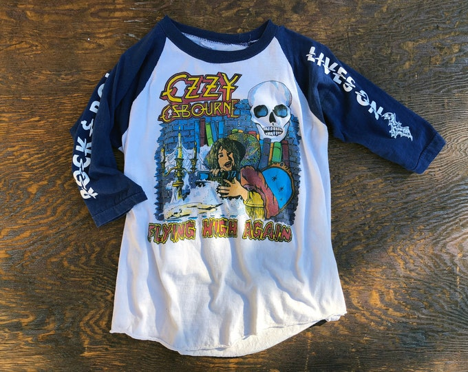 Featured listing image: 1981 Ozzy Osbourne • Diary of a Madman vintage raglan