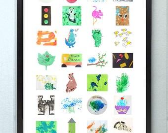 Custom Children's Artwork Collage