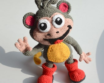 Crochet PATTERN - Monkey by Krawka