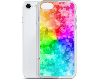 Love is Love LGBT Hearts and Rainbow iPhone Phone Case