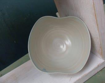Apple Dish in Pale Celadon glaze