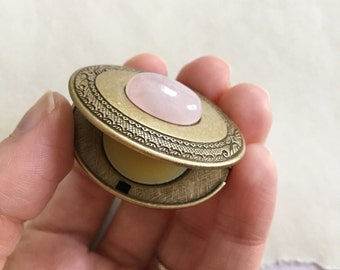 Briar Rose Natural Solid Perfume Compact - Botanical Handmade Keepsake Gift for Her