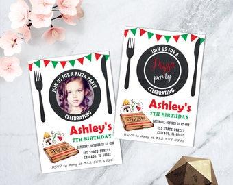 Pizza Party Invitation, Pizza Making Party Invitation, Pizza Party Invite, Cooking Invitation, Italian Birthday Invitation, PRINTABLE