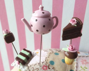 Dainty Teatime Pretty Pastels Chocolate Minty Pin Toppers