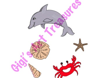 Clear Acrylic Stamps - Gigi's Art Treasures© - Sea Creatures