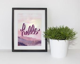 Hello - Printable
