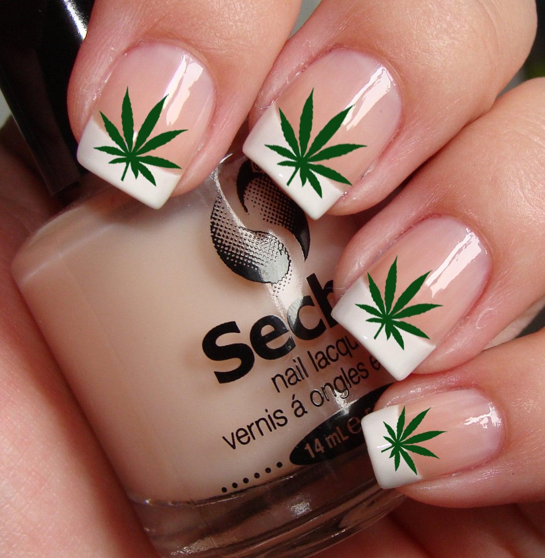 POT LEAVES Marijuana Pot Nail Art PTG Waterslide Transfer