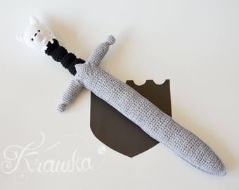 Crochet PATTERN No 1722 Wolf sword pattern by Krawka,