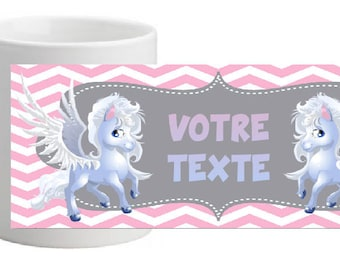 UNBREAKABLE MAGICAL HORSE MUG PERSONALISED WITH THE TEXT OF YOUR CHOICE