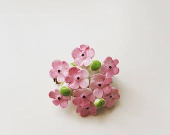 Rare Cara China Staffordshire Flower Pin era 1950s