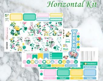 Rose Garden // Weekly Kit - Erin Condren Life Planner Horizontal