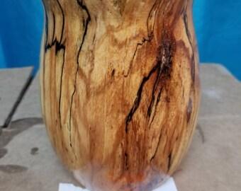Spalted pecan vase