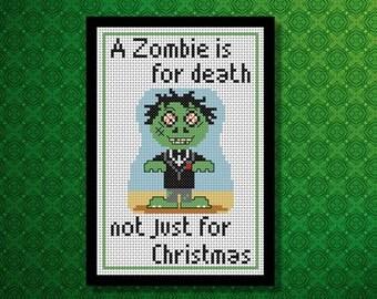 Zombie Cross Stitch PDF Chart Pack