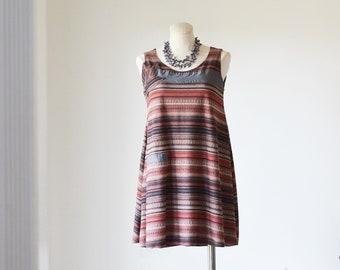 Striped Rustic Swing Dress/Spring Dress/Wedding Guest Dress