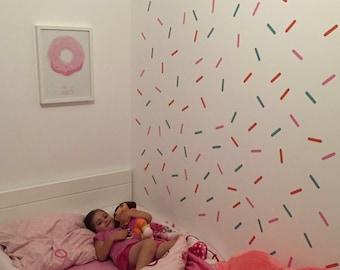 Sprinkles Wall Decal, Mini Sprinkles Vinyl Sticker - 2 colors, Removable Wall Sticker, Nursery wall decor
