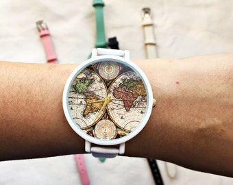 Travel watch etsy more colors world map print watch gumiabroncs Images