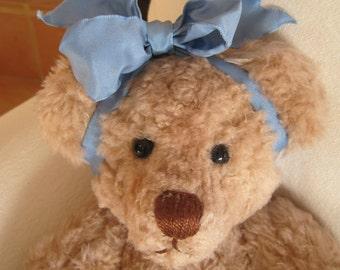 """Handgemachte Vintage 15"""" Teddy Bär von der Künstler 1994 Baby Mädchen abnehmbare Kleidung unterzeichnet"""