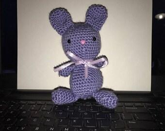 Crocheted Amigarumi Bunny- Purple
