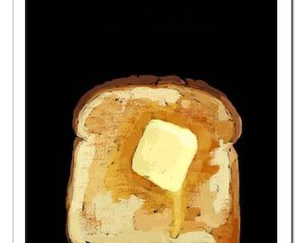 Toast-Pop Art Print