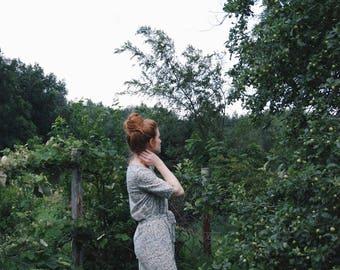 Floral Lawn Tucked Dress / CUSTOM ORDER