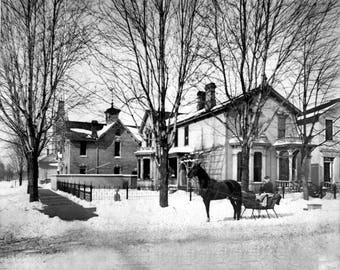 1880 - Home of WF Adams on Woodward in Detroit