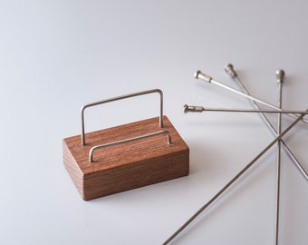Business Card Stand, Wood Business Card Holder, Gifts for Cyclists, The Charlie