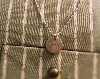 Hand Stamped Mama Necklace on Silver Chain