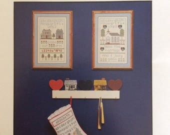 Simple Samplers/Counted Cross Stitch Patterns by Hollie Designs/1987/Christmas Samplers/Stocking Sampler/Holiday Decor