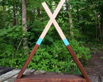 THE TEEPEE Wood Wall Shelf Display Art