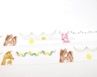 Animal Washi Tape, Animal Masking Tape - Green Flash