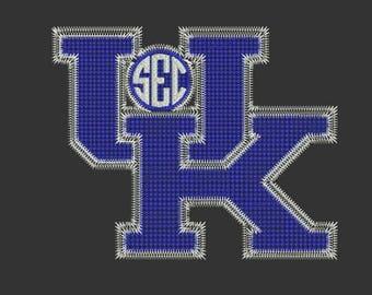 University of Kentucky machine embroidery design