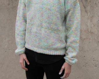 Knitted multi coloured sweater