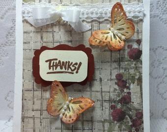 Thank You, Cards, Elegant, Feminine, Handmade, Beautiful