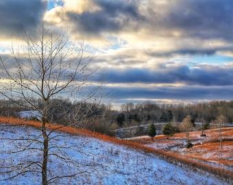 Photography, Natural Landscape, Winter Scene, Title: Winter Arrives at Sparksville