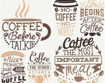 Set of 6 Coffee Break Tea Towela