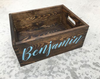 Wooden Crate / Box Personalized