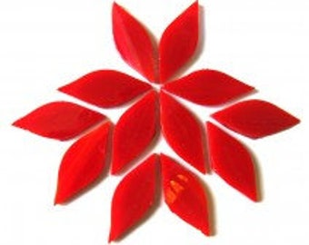 Stained Glass Petal - Deep Red - 12 pieces (approx 0.25g)