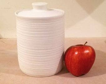 Kitchen Canister - Coffee Canister - White Ridge - Made To Order