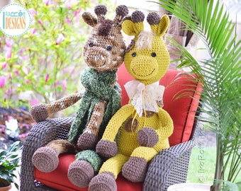 CROCHET PATTERN - Rusty the Giraffe Big Amigurumi Crochet PDF Pattern with Instant Download