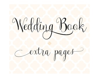 Set of 20 Extra Pages for Charmbooks Wedding Books