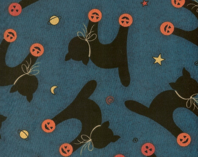 Black Cats fabric-sold by ( multiple lengths)  #94