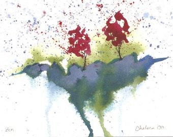 Zen - Original Watercolor